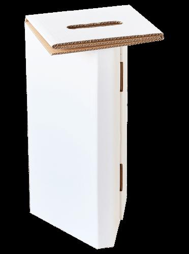 Tabouret en carton recyclé et recyclable. Tabouret en carton résistant, léger et pliable. Tabouret fabriqué en France.