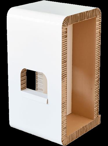 Tabouret VIP en carton recyclé et recyclable. Tabouret VIP en carton résistant, léger et pliable.